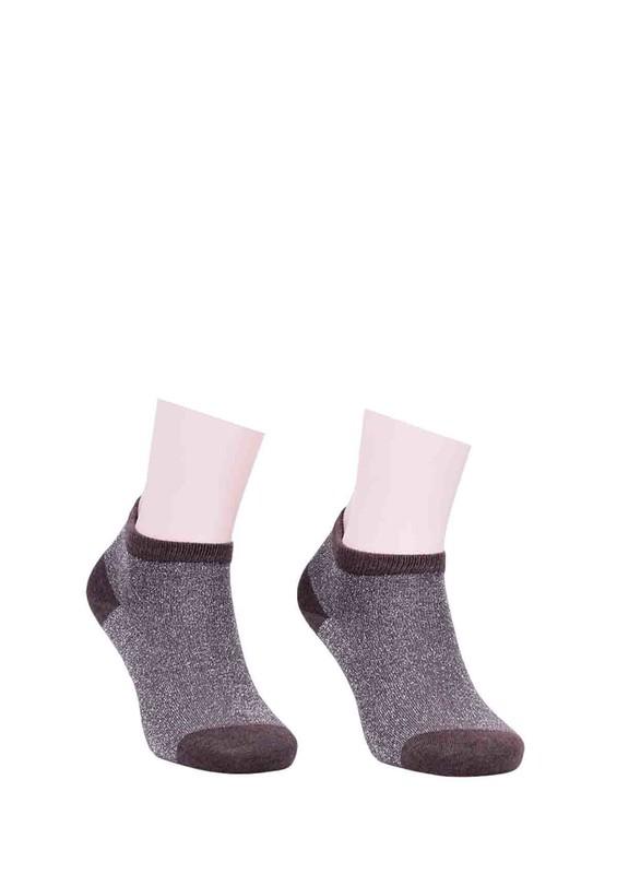 DÜNDAR - Dündar Desenli Soket Çorap 023 | Kahverengi