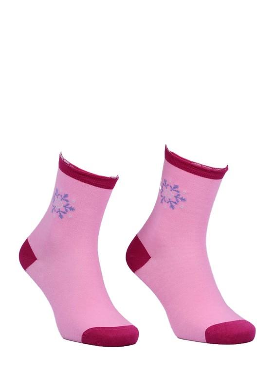 DÜNDAR - Dündar Desenli Dikişsiz Çorap 2082 | Fuşya