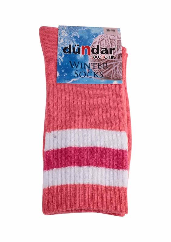 DÜNDAR - Dündar Desenli Havlu Çorap 8504 | Pudra