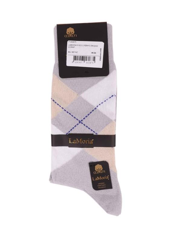 LA MORİA - La Moria Dikişsiz Çorap 51625   Beyaz