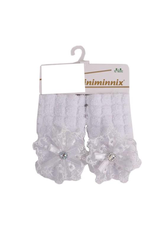 MİNİMİNNİX - Miniminnix Havlu Çorap 355 | Beyaz