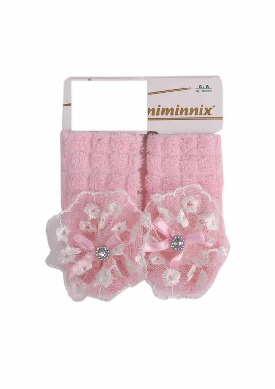 MİNİMİNNİX - Miniminnix Havlu Çorap 355 | Pudra