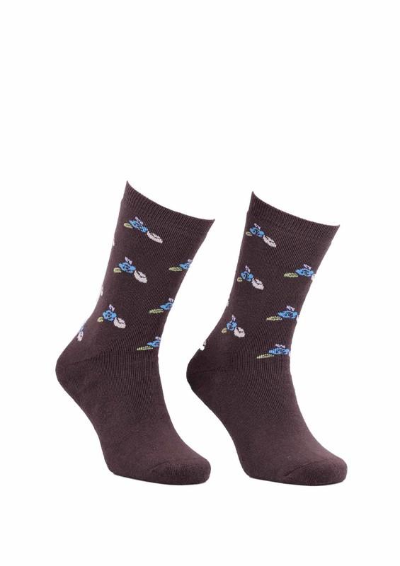 Modemo - Çiçekli Havlu Çorap 2050   Haki