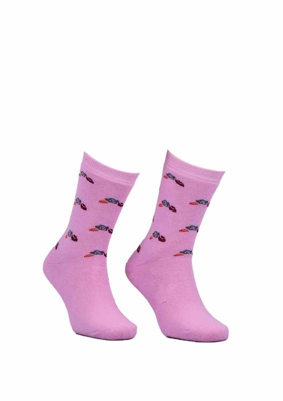 Modemo - Çiçekli Havlu Çorap 2050 | Pembe