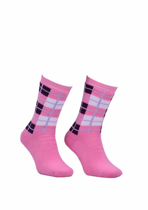 Modemo - Kareli Havlu Çorap 2050 | Pembe