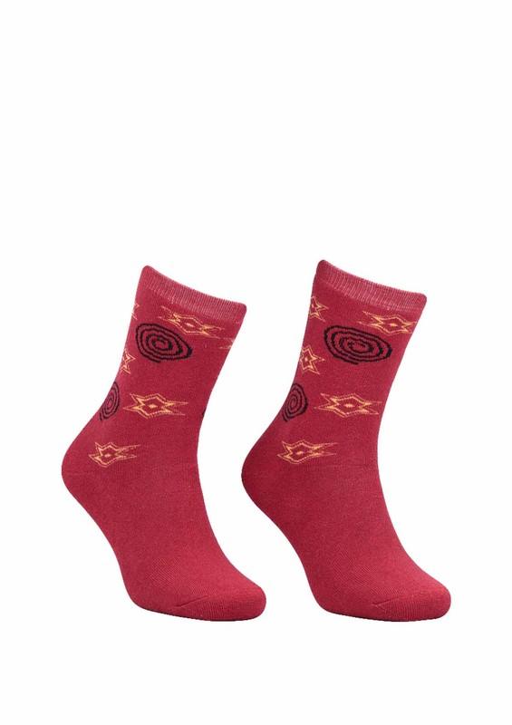 Modemo - Yıldızlı Havlu Çorap 2050 | Kırmızı