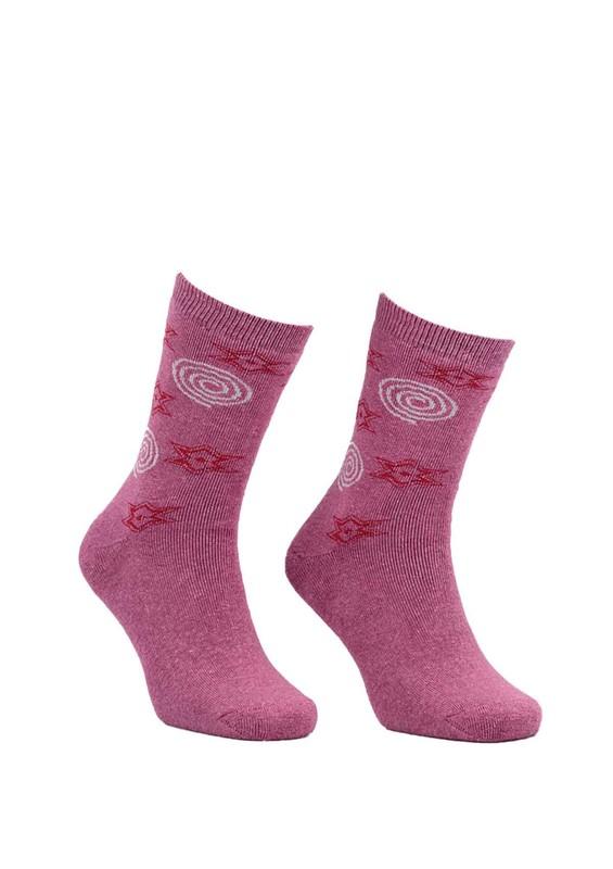 Modemo - Yıldızlı Havlu Çorap 2050 | Pembe