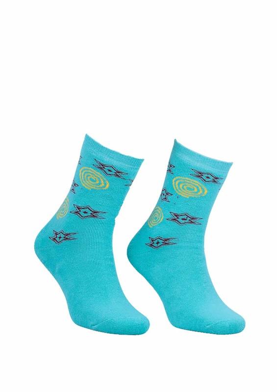 Modemo - Yıldızlı Havlu Çorap 2050 | Su Yeşili