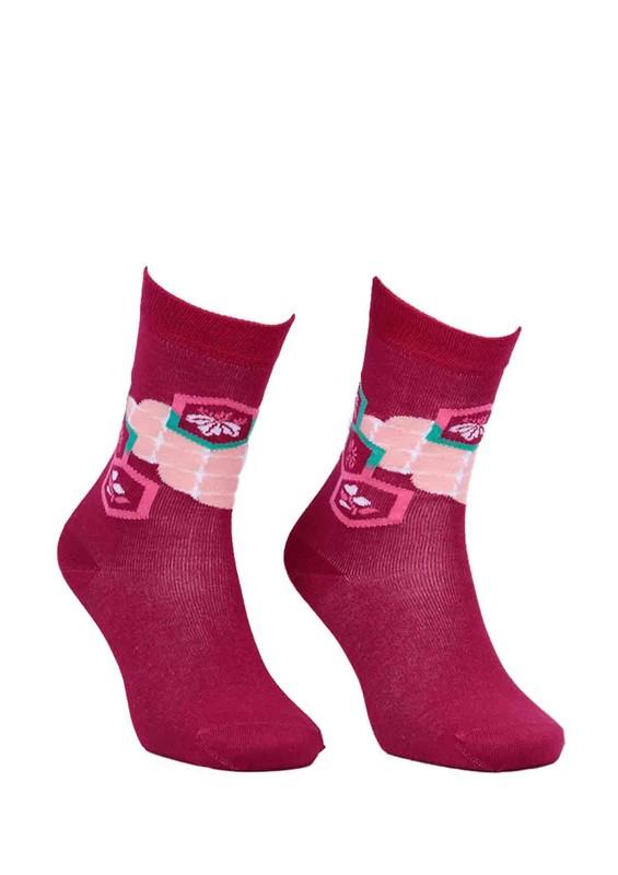 PAKTAŞ - Paktaş Dikişsiz Desenli Çorap 2585 | Mürdüm