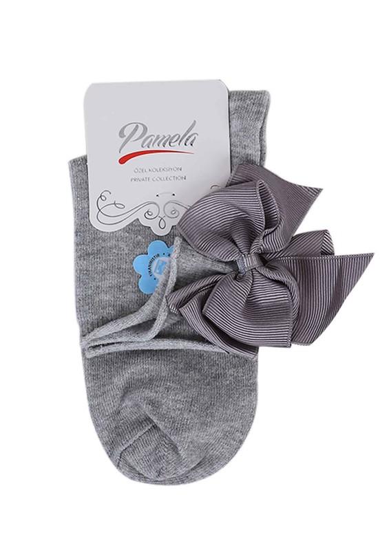 PAMELA - Kurdeleli Çorap 618 | Gri
