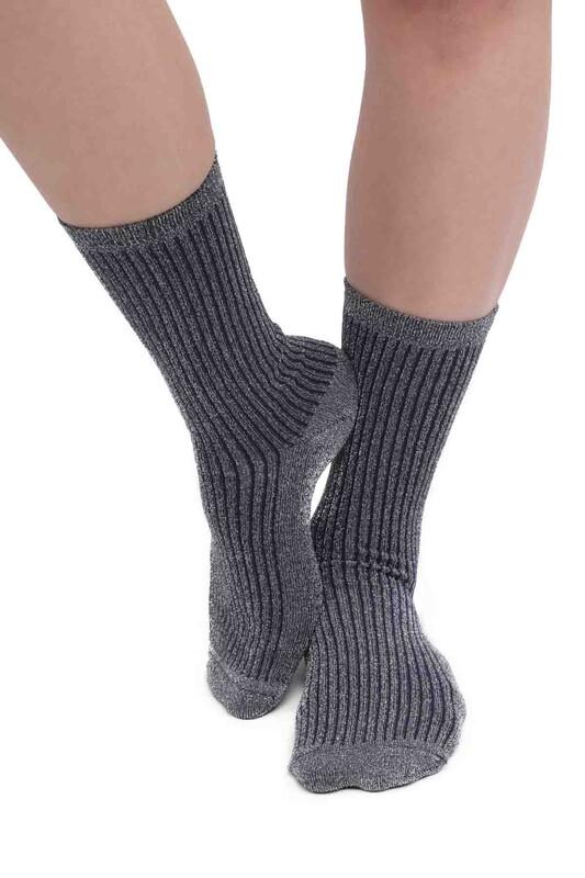 PAMELA - Sim Desenli Çorap 617 | Lacivert