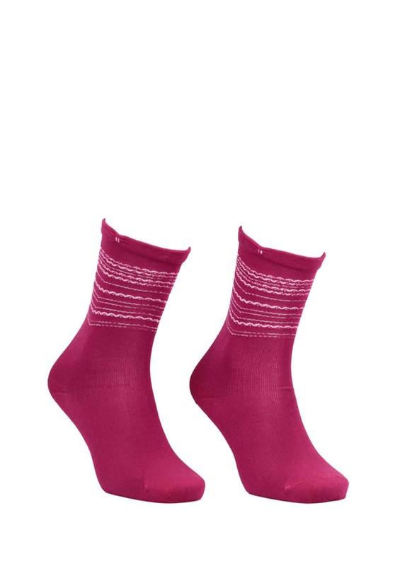 SİMİSSO - Desenli Dikişsiz Çorap 117 | Pembe
