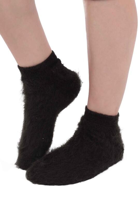 SİMİSSO - Dışı Şardonlu Termal Kadın Havlu Patik Çorap 3031   Yeşil