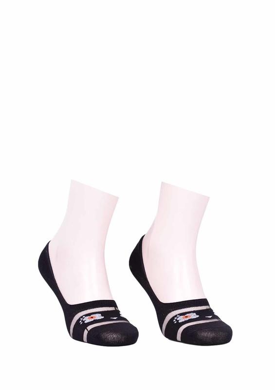 SOHO - Soho Çiçekli Babet Çorap 011 | Siyah