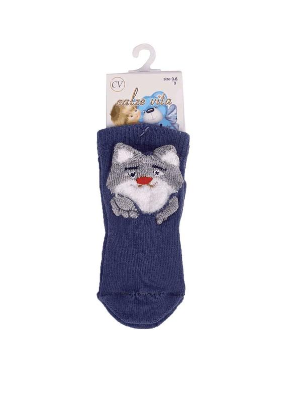 CALZE VİTA - Calze Vita Soket Çorap 006   İndigo