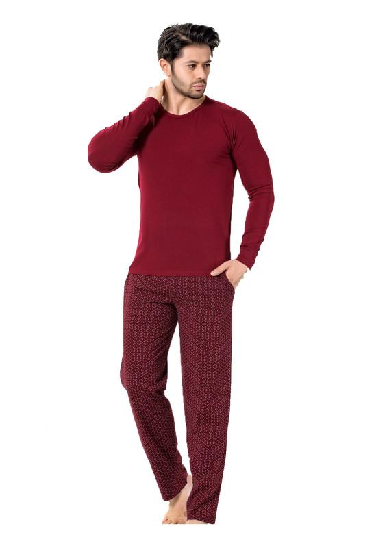 AYDOĞAN - Aydoğan Pijama Takımı 7723 | Bordo