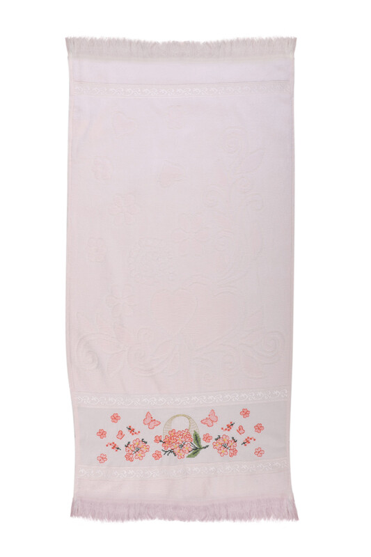 BEĞENAL - Полотенце с вышивкой 50*90см./кремовый