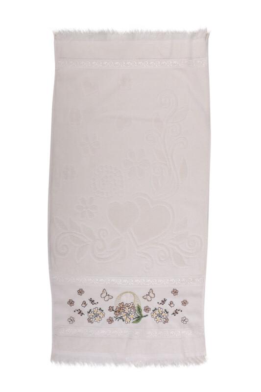 BEĞENAL - Полотенце с вышивкой 50*90см./бежевый
