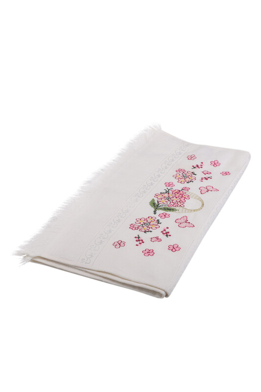 BEĞENAL - Полотенце с вышивкой 50*90см./белый