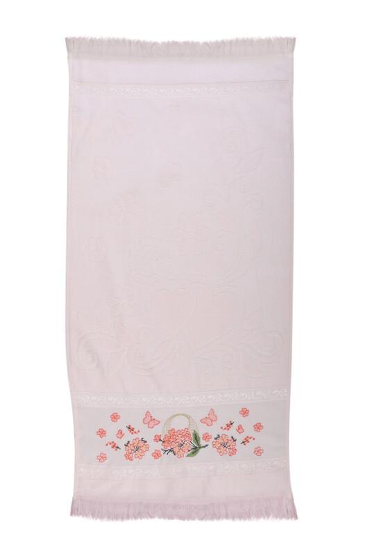 BEĞENAL - Полотенце с вышивкой 50*90см./пудровый