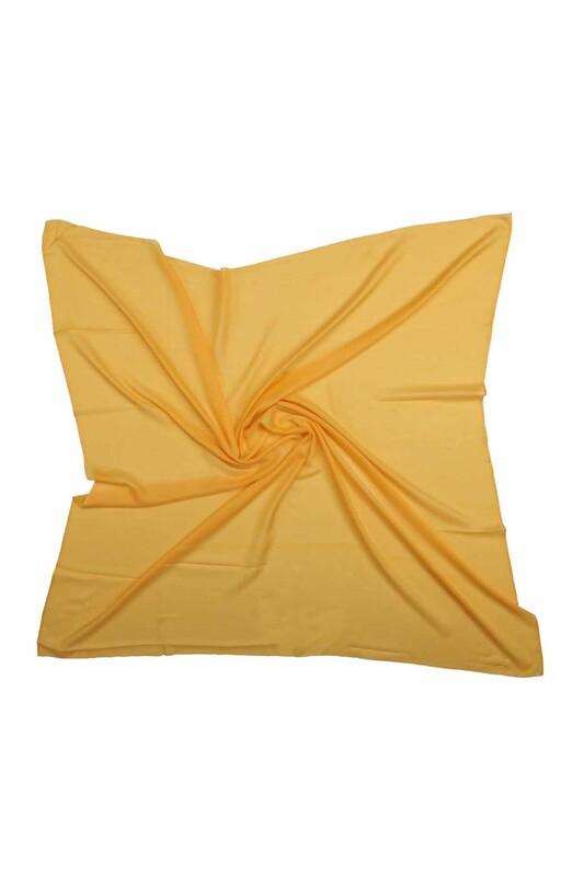 BERİVAN - Бесшовный одноцветный платок Berivan 100см/ жёлтый
