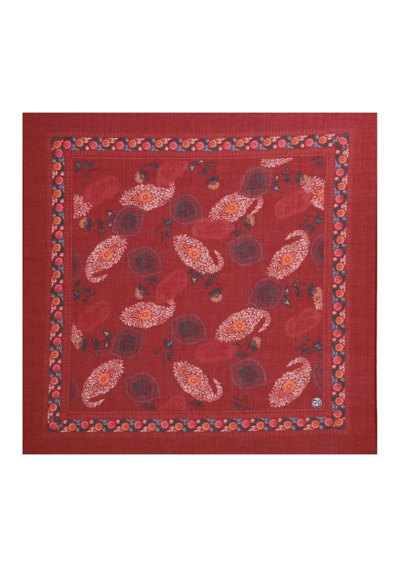 CENK - Бесшовный платок Cenk с принтом 100см/1518