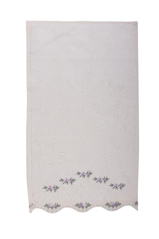 FİESTA - Полотенце Fiesta с гипюровыми вставками 30*50см/лиловый