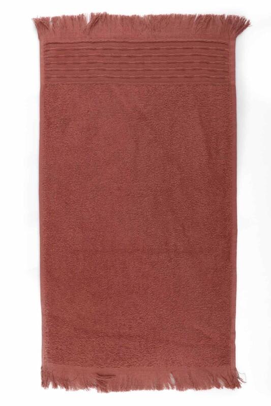 HAZANGÜLÜ - Полотенце с бахромой 30*50см. Hazangülü/коричневый