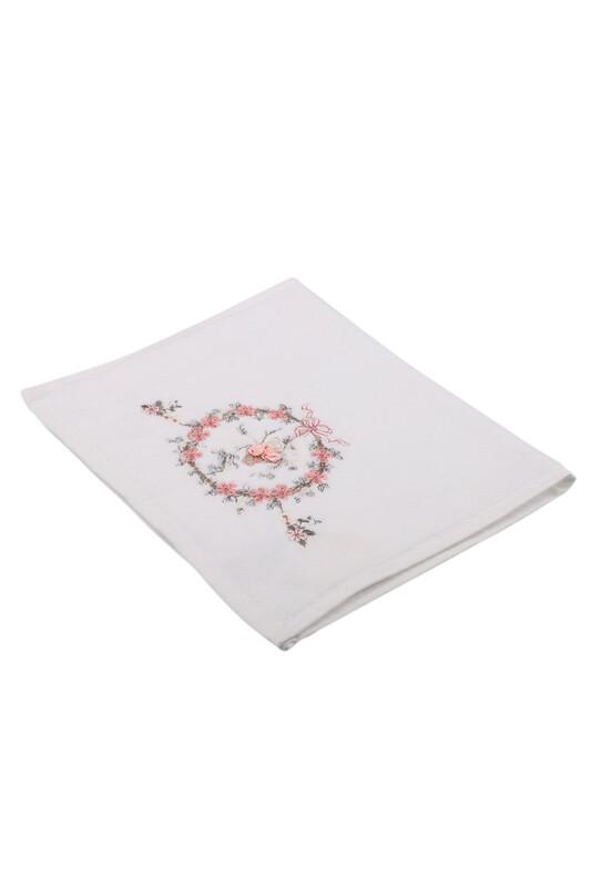 HAZANGÜLÜ - Бархатное полотенце Hazangülü для вышивки 70*140см./лососевый