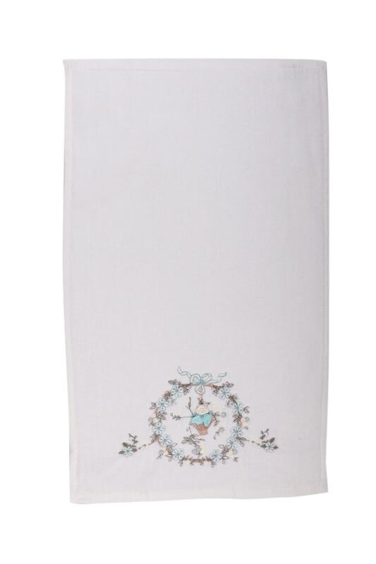 HAZANGÜLÜ - Бархатное полотенце Hazangülü для вышивки 70*140см./бирюзовый