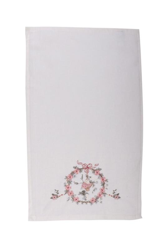 HAZANGÜLÜ - Бархатное полотенце Hazangülü для вышивки 70*140см./пудровый
