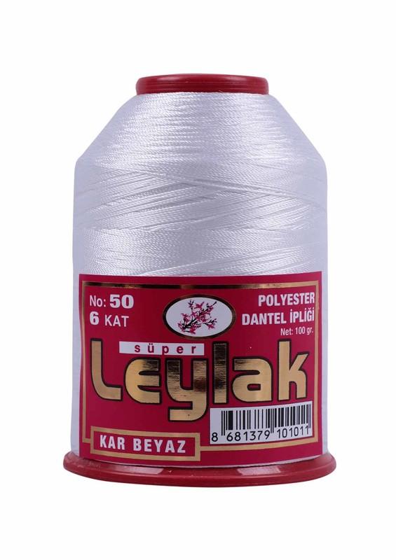 LEYLAK - Нить-кроше Leylak 100гр./снежно-белый