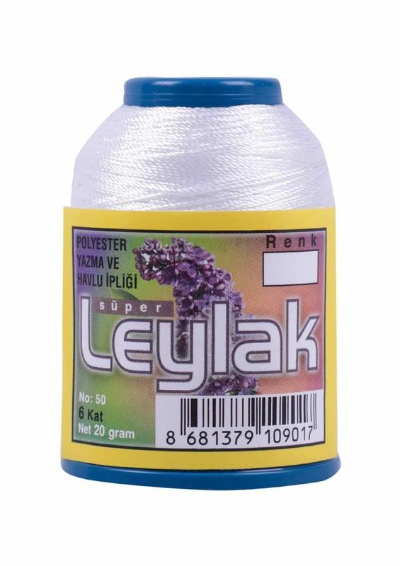 LEYLAK - Нить-кроше Leylak 20гр/снежно-белый-1
