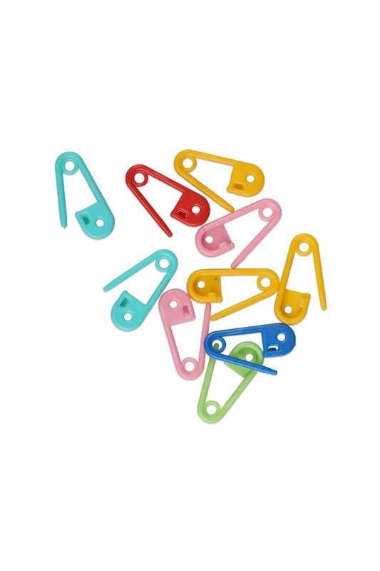 MİR PLASTİK - Пластиковые булавки 10 шт./цветной