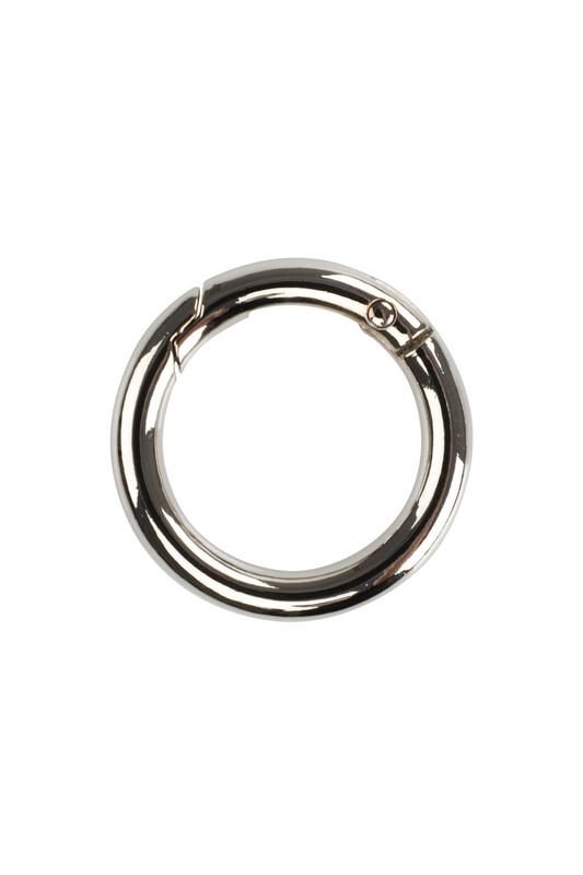 MİR PLASTİK - Металлическое кольцо для крепления сумок 2.5 см./серебряный