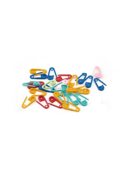 MİR PLASTİK - Plastik Çengelli İğne 20 Adet Karışık