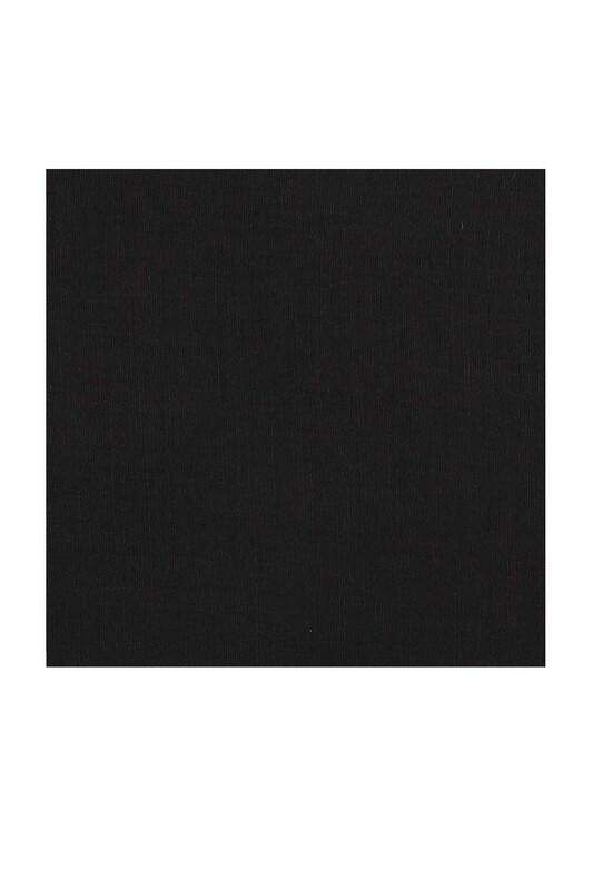 Payidar İpek - Бесшовный одноцветный платок Payidar İpek 100см/чёрный