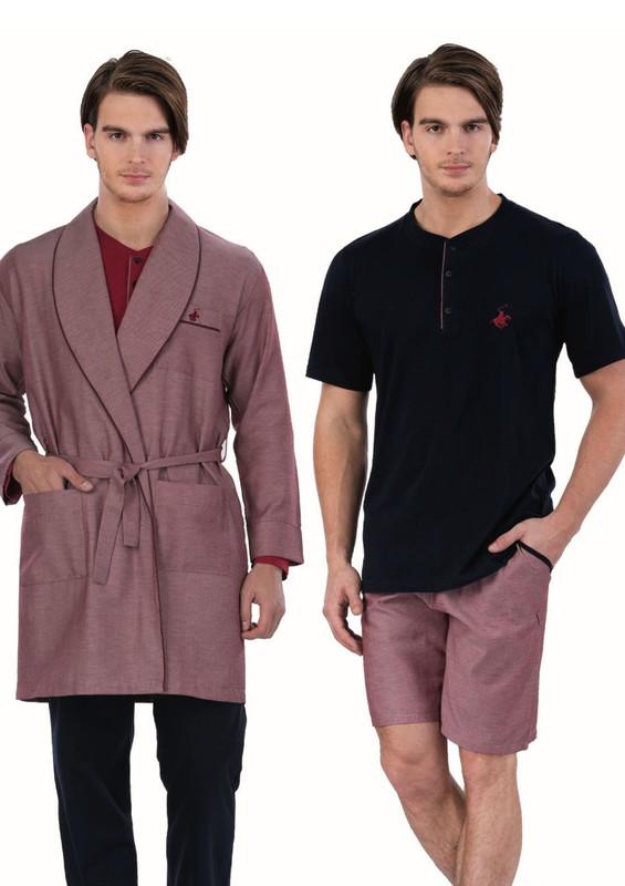 POLO CLUP - Polo Clup Pijama Seti 5 ' li 358   Bordo