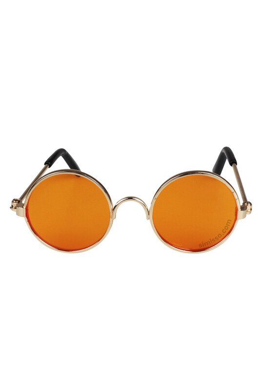 SEVİNÇ - Amigurumi Cam Gözlük Turuncu