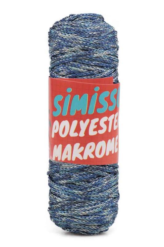 SİMİSSO - Polyester Makrome İpi 100 gr   Ebruli