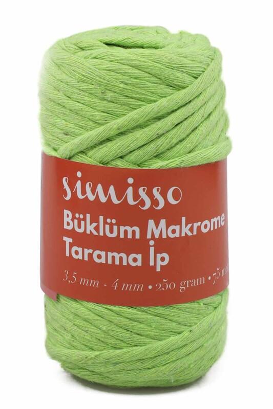 SİMİSSO - Пряжа для макраме Simisso / зелёный