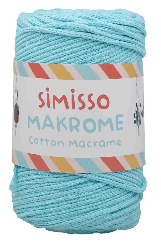 SİMİSSO - Хлопковый шнур SIMISSO для макраме 250 м.,2мм/бирюзовый