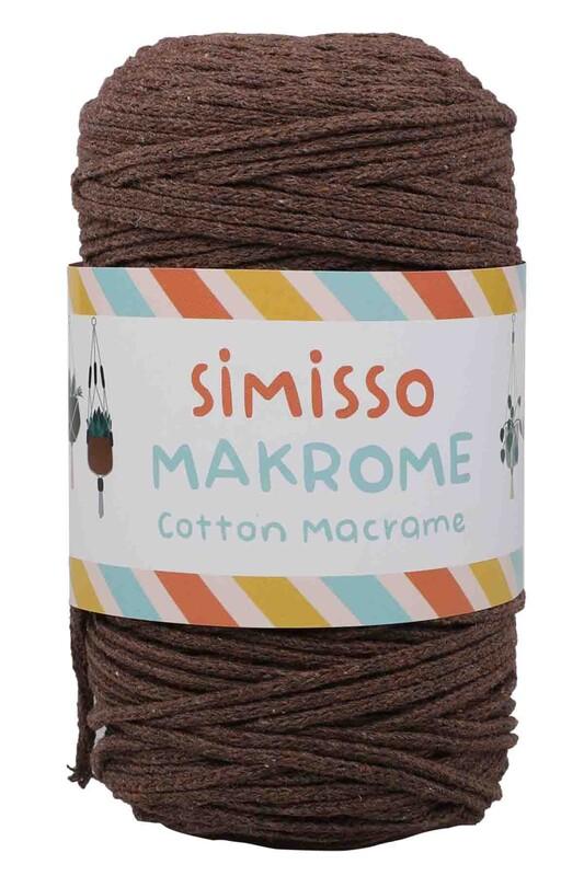 SİMİSSO - Хлопковый шнур SIMISSO для макраме 250 м.,2мм/кофейный