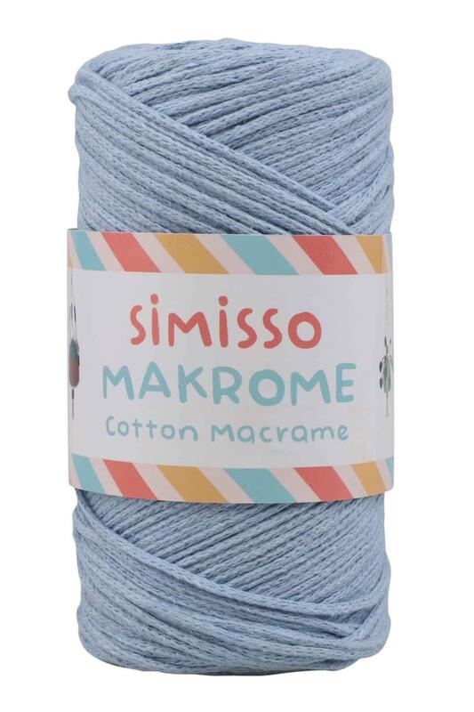 SİMİSSO - Хлопковый шнур SIMISSO для макраме 250 м.,2мм/голубой