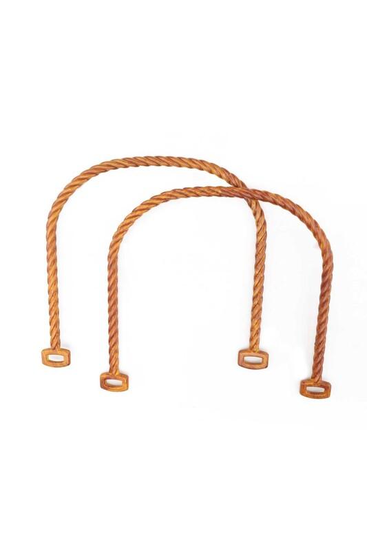 SİMİSSO - Пластиковые ручки для сумки Модель1/коричневый