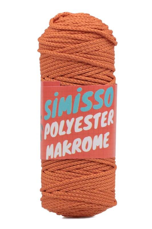 SİMİSSO - Пряжа для макраме из полиэстера 100гр./кирпичный