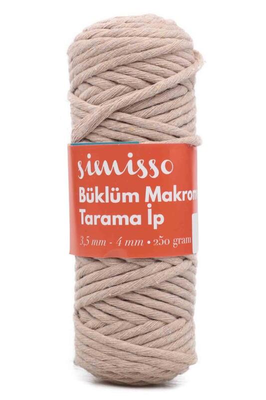 SİMİSSO - Пряжа-шнур для макраме SIMISSO/304 светло-кофейный