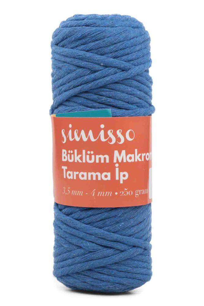 Пряжа-шнур для макраме SIMISSO/603 синий-сакс