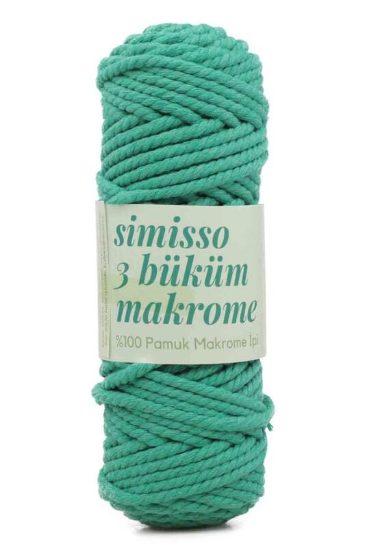 SİMİSSO - Хлопковый шнур для макраме 250гр./801 зелёный