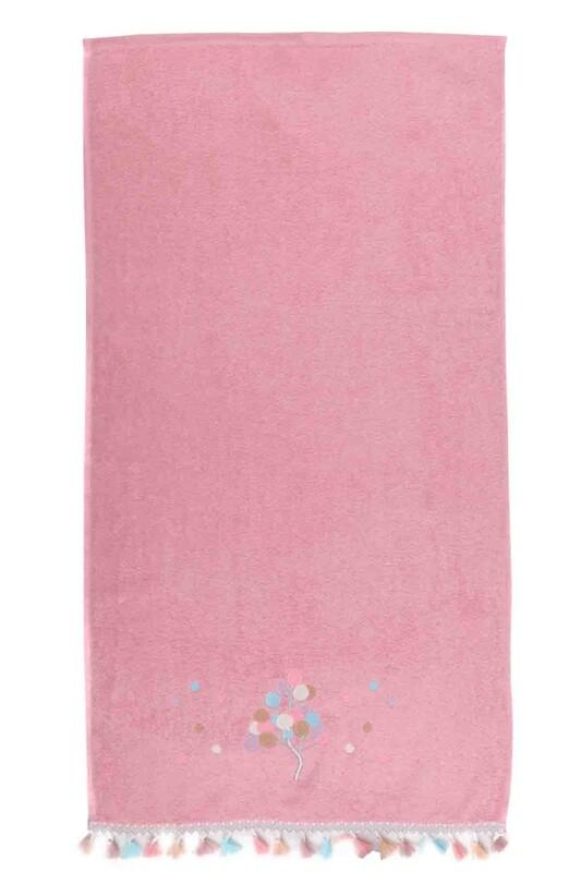 SİMİSSO - Полотенце с бахромой 50*90см./розовый